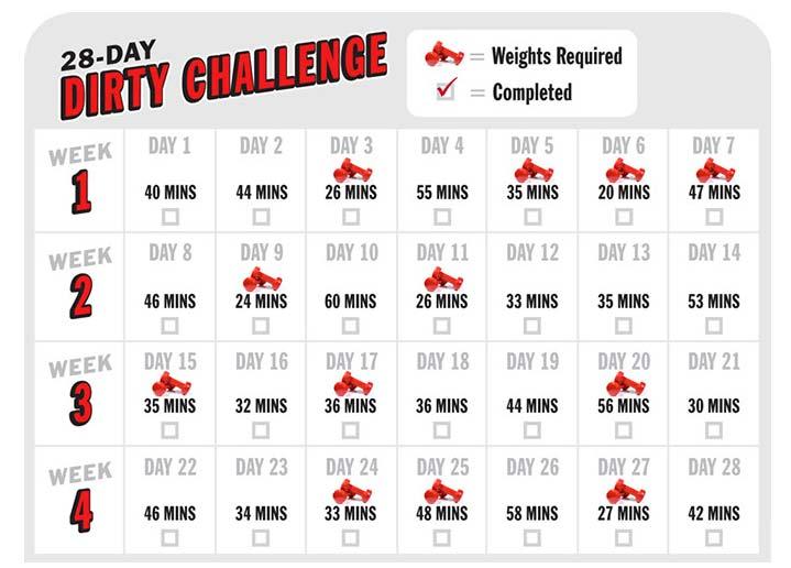 challenge schedule