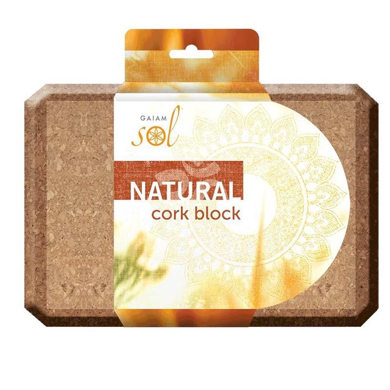 gaiam sol natural cork block