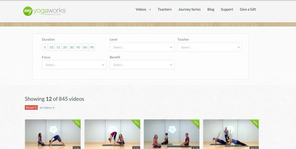 myyogaworks courses screenshot