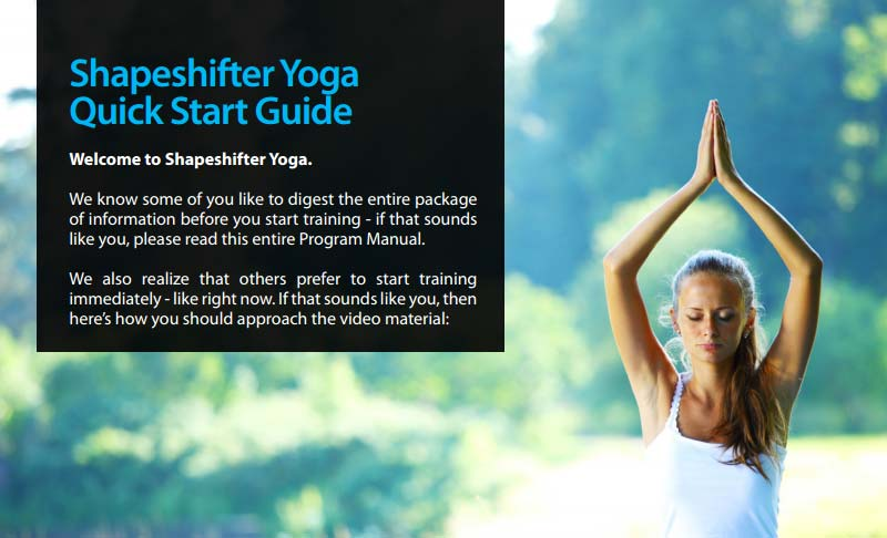 shapeshifter yoga quickstart guide