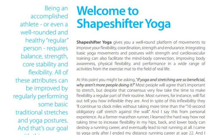 shapeshifter yoga quickstart guide 2