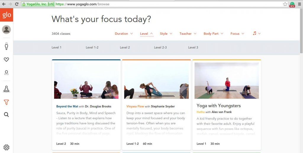 yogaglo classes focus