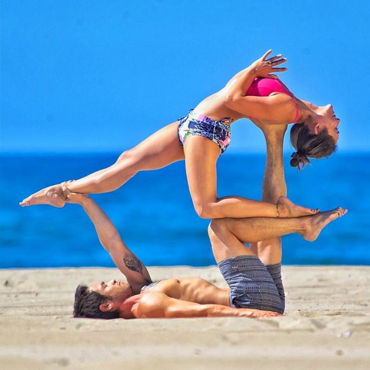 bryceyoga beach partner yoga