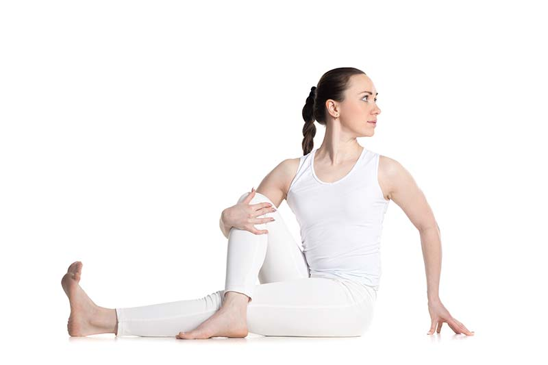 yoga poste twist to aid digestion