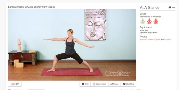 grokker Earth Element Christy Evans yoga class