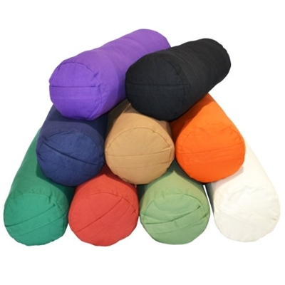 YogaAccessories Round Cotton Bolster